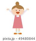 主婦 女性 エプロンのイラスト 49480844