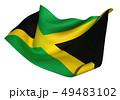 ジャマイカ 国旗 比率1:2 49483102