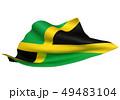 ジャマイカ 国旗 比率1:2 49483104