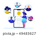 Online meeting - flat design style colorful illustration 49483627