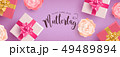 German Mothers Day banner with gifts and flowers 49489894