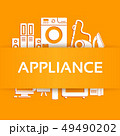 Home electronics appliances infographics. 49490202