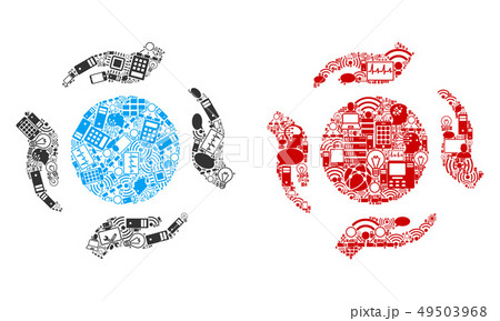 Sphere Care Hands Mosaic Icons for BigData 49503968