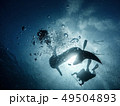 Giant whaleshark with divers 49504893