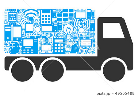 Delivery Car Mosaic Icon for BigData 49505489