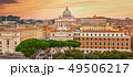 Panorama of Rome and Basilica of St. Peter 49506217