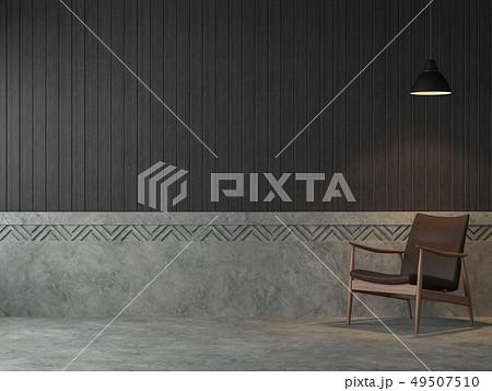 Loft style living room 3d render 49507510