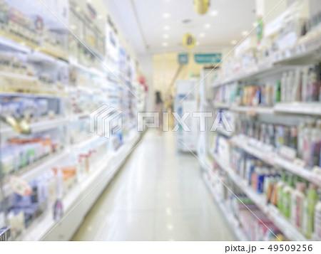 Pharmacy store or drugstore blur background 49509256