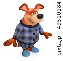 3d illustration Funny dog in pajamas 49510184
