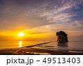 見附島 日の出 海の写真 49513403