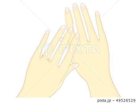 結婚指輪 両手 金  49526529