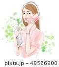 ビジネスOL スマホとパソコン 新緑 49526900