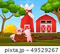 農場 ブタ 動物のイラスト 49529267