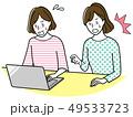 パソコンをする中年女性 49533723