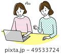 パソコンをする中年女性 49533724