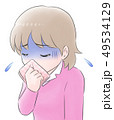 吐き気がする年配女性 49534129