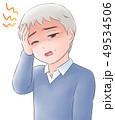 頭痛 病気 体調不良のイラスト 49534506