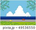 海辺のドライブ 青空 初夏 49536550