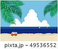 海辺 車とサーフボード 49536552
