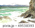 浦浜海岸から望む佐渡島 49538393