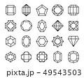 宝石 ジオメトリック ダイヤモンドのイラスト 49543503
