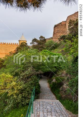 Walking path in Narikala fortress. Tbilisi,Georgia 49548352