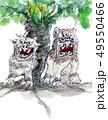 シーサーとアコウの木 49550466