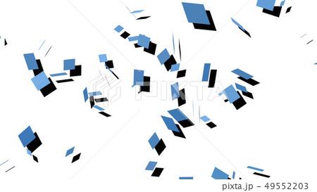 CGパーティクル 青色 影のあるスクエア 49552203