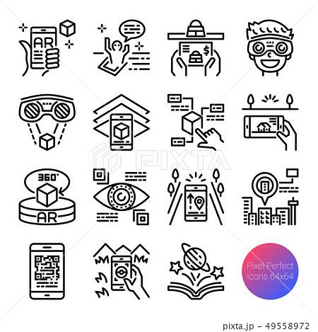 AR outline icons 49558972