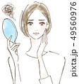 皺 しみ くすみ 加齢を気にする女性 美容 肌トラブル 49560976