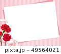 背景-カーネーション-母の日-ピンク-ストライプ-メッセージカード 49564021