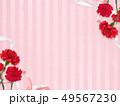 背景-カーネーション-母の日-ピンク-ストライプ 49567230