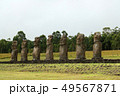 モアイ イースター島 モアイ像の写真 49567871