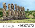 モアイ イースター島 モアイ像の写真 49567872