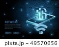5G wifi wireless technology template background 49570656