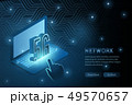 5G wifi wireless technology template background 49570657