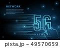 5G wifi wireless technology template background 49570659