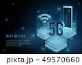 5G wifi wireless technology template background 49570660
