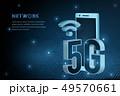 5G wifi wireless technology template background 49570661