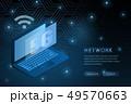 5G wifi wireless technology template background 49570663
