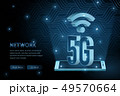 5G wifi wireless technology template background 49570664