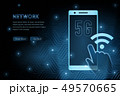 5G wifi wireless technology template background 49570665