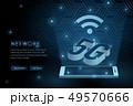 5G wifi wireless technology template background 49570666
