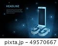 5G wifi wireless technology template background 49570667