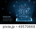 5G wifi wireless technology template background 49570668