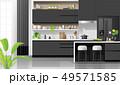 インテリア キッチン 厨房のイラスト 49571585