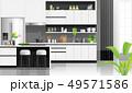 Modern black and white kitchen background 49571586
