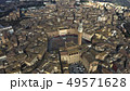 Aerial of Siena centre involving famous Piazza del Campo, one of Europe's greatest medieval squares 49571628