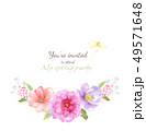 透明水彩 水彩画 花のイラスト 49571648