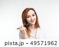 女性 刷毛 メイクの写真 49571962